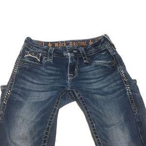 Rock Revival Essie Boot fit blue jeans Inseam 32